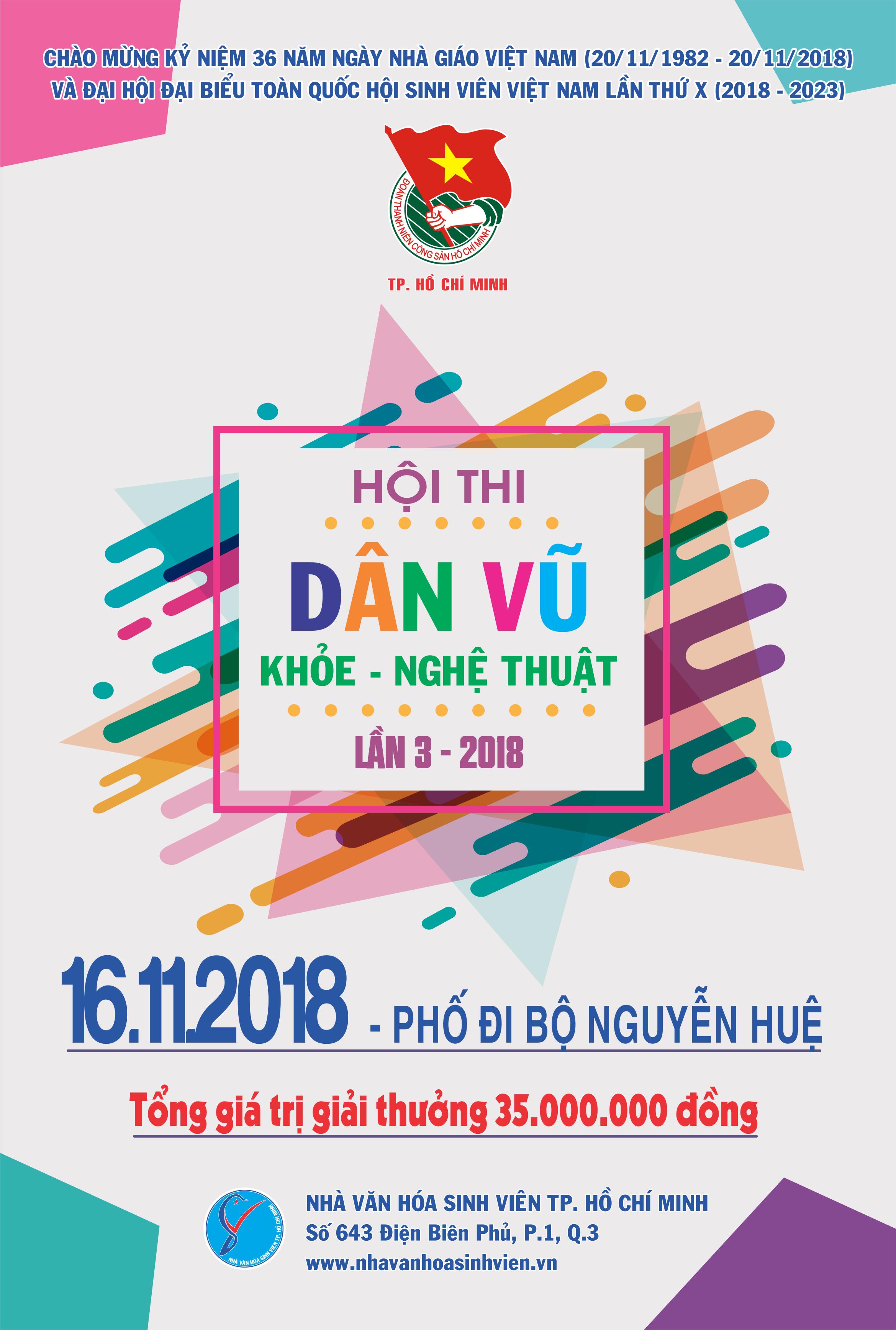 Cùng tham gia Hội thi Dân vũ – Khỏe – Nghệ thuật lần 3 – Năm 2018